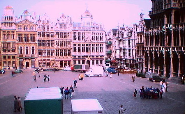 View across the Grand Place in Brussels
