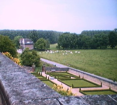 A view from the terrace of the château