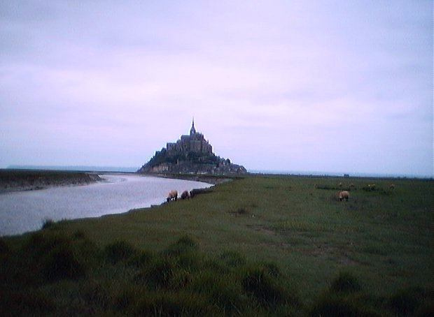 Le Mont St-Michel from a distance
