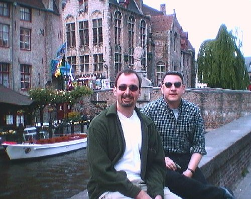 Steve and Rory in Brugge